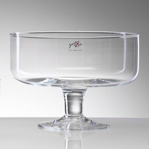 Glasschale BOWL ON FOOT Glas Schale Kelch 17,5 cm, Ø 24 cm