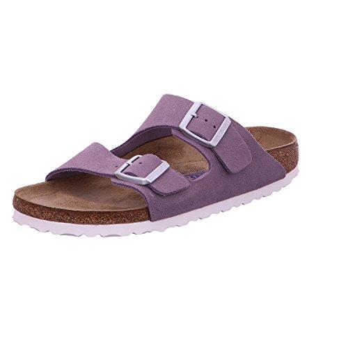 Birkenstock Arizona Leder Softfootbed - Mules Mujer Violeta (Lavender)
