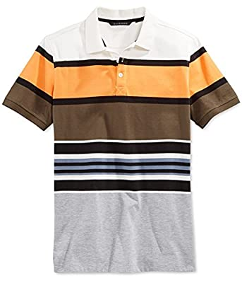 Sean John Men's Big & Tall Core Stripe Polo, SJ Cream