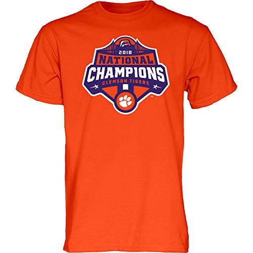 Elite Fan Shop Clemson Tigers National Champs Tshirt 2018-2019 Icon Orange - L