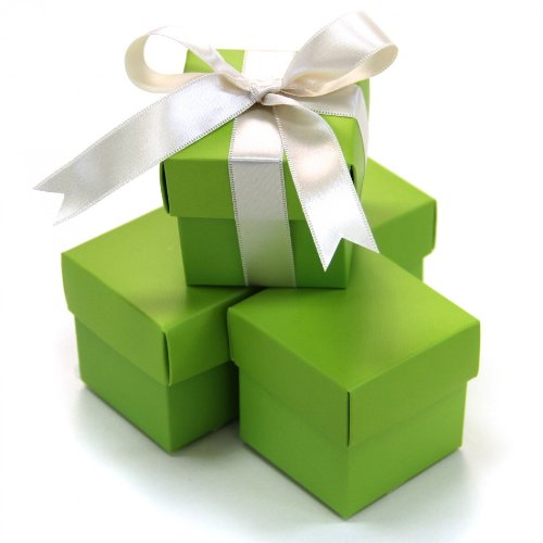 2 Favor Boxes Piece - Koyal 2-Piece 100-Pack Square Favor Boxes, Lime Green