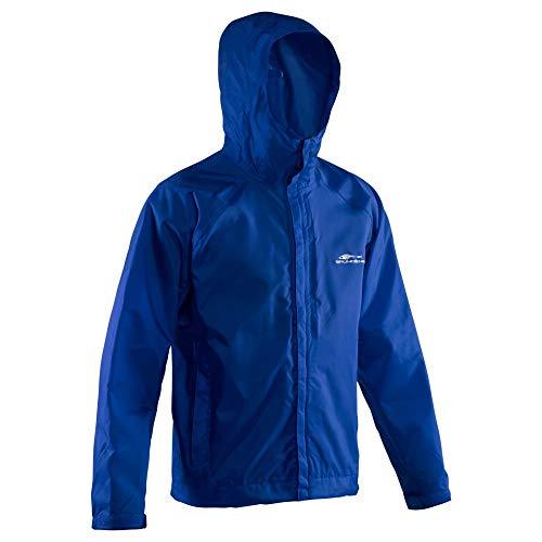 (Grundéns Men's Weather Watch Hooded Fishing Jacket, Glacier Blue, XX-Large)