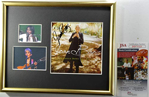 Signed Joan Baez Autographed Whistle Down Wind Cd Display Certified Jsa #dd75325 ()