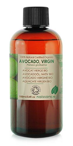Bio Avocadoöl - 100% reines kaltgepresstes Basisöl - Organisch zertifiziert - 100ml