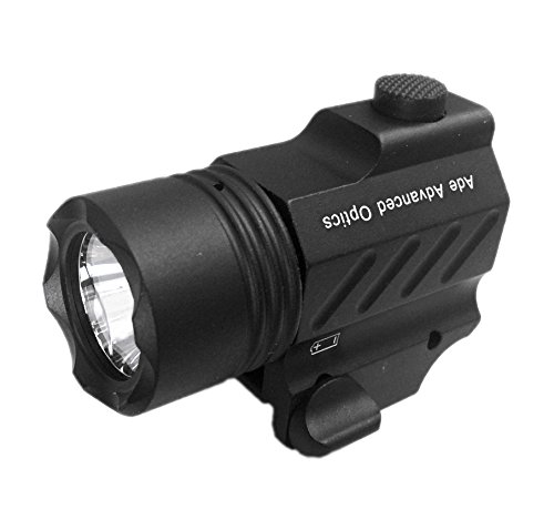 - Ade Advanced Optics PL200-A-1 Ultra Compact 400 Lm Bright White LED Rail-Mounted Tactical Flashlight
