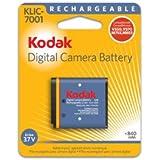OEM Kodak KLIC-7001 Original Battery for M1063 M1073 IS M340 M341 M753 M763 M853 M863 M893 IS V550 V570 V610 and V705 Cameras (Retail Package)