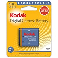 OEM Kodak KLIC-7001 Original Battery for M1063, M1073 IS, M340, M341, M753, M763, M853, M863, M893 IS, V550, V570, V610 and V705 Cameras (Retail Package)