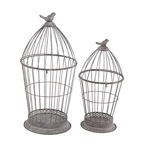 Deco 79 77649 Farmhouse Birdcage Candle Lanterns, 10