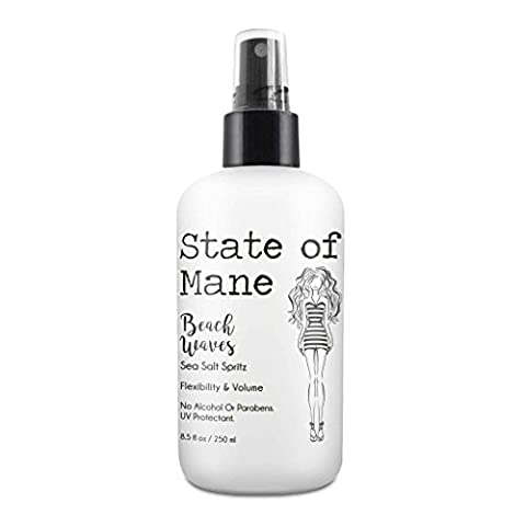 Beach Waves Sea Salt Spray for Hair Texturizing for the Perfect Curl by State of Mane 8 oz