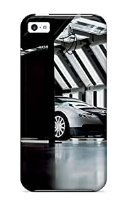 Sanp On Case Cover Protector For Iphone 5c (bugatti Veyron Inside Molsheim Workshop Grey Front Black Cars Other)