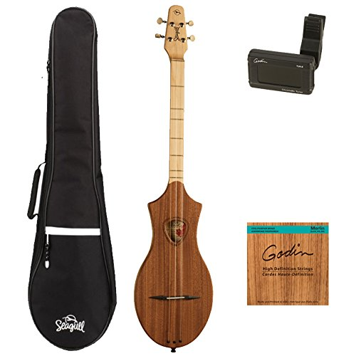 Seagull Merlin M4 Mahogany GuitarVault Kit with Seagull Gig Bag, Tuner and Strings (39098)
