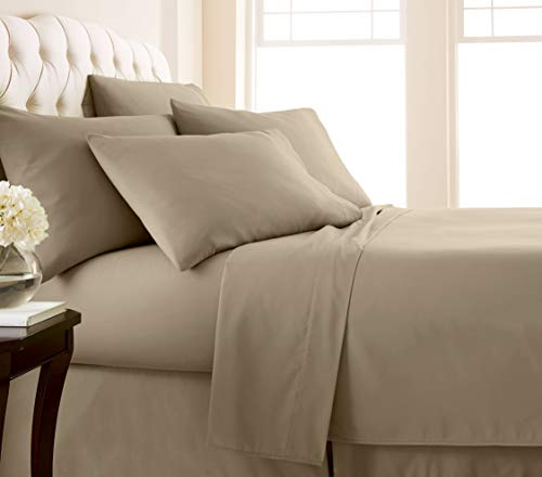 - Southshore Fine Linens - 6 Piece - 21 Inch - Extra Deep Pocket Sheet Set (King, Taupe)