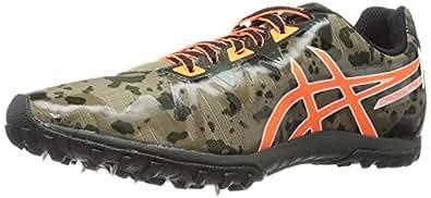 ASICS Men's Freak 2 Cross-Country Running Shoe, Dusky Green/Hot Orange/Duffel Bag, 4 M US