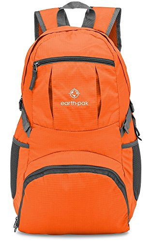 Earth Pak Backpack - Foldable Day Pack for All Your Daily Activities from School to Travel, Camping, Hiking - Carry On Backpack for Men, Women - Holds Everything You Need - Things Need Camping For You