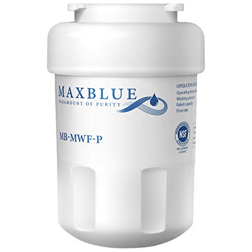 Maxblue NSF 53&42 Certified MWF Refrigerator Water Filter, Replacement for GE SmartWater, MWFP, MWFA, GWF, HDX FMG-1, WFC1201, GSE25GSHECSS, PC75009, RWF1060, 197D6321P006