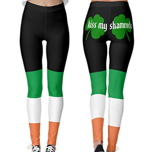 (Gnpolo St Patricks Day Leggings for Women High Waisted Yoga Pants Workout Fitness Tummy Control)