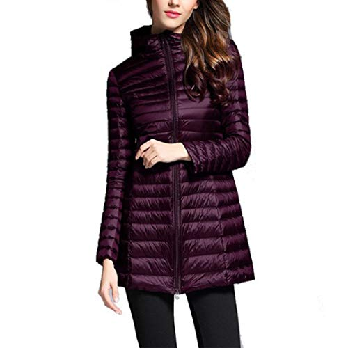 Hooded Down Purple Raylans Women's Weight Ultra Light Jacket Slim Packable pxF0nEq