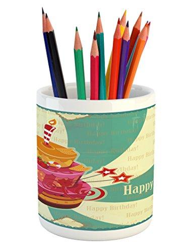 birthday pencil pen holder