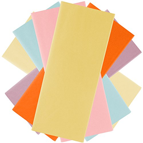 JAM Paper Assorted Tissue Paper Set - Standard Sheets (20 x 26 Inches) - Pastel Colors - 6 Packs/Set (48 Sheets Total) by JAM Paper
