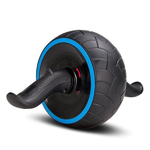 Covvy Abs Carver Ab-Roller Wheel Trainer Pro Abdominal & Stomach Exercise Training Fitness Equipment Core waist line strength Shredder with Knee Pad reps gym rat home travel workout tools (Blue) Review