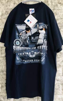 希少 レア イチロー vs 松井 Tシャツ タグ付き メンズ Mサイズ majestic コットン 100% コレクター アイテム   B07Q83RW3B