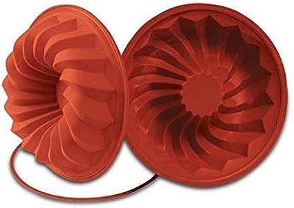 Image of SFT224 Molde de Silicona Savarin Ø 240 h 60 mm, Color Terracota