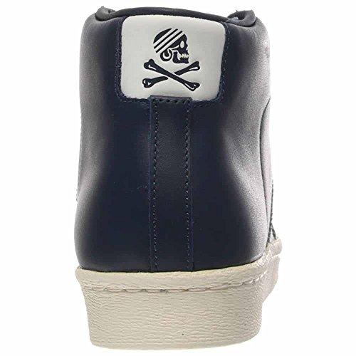 Adidas Herre Nh Promodel Kvarter Marine Blå / Hvid Læder Blå 89Ksm