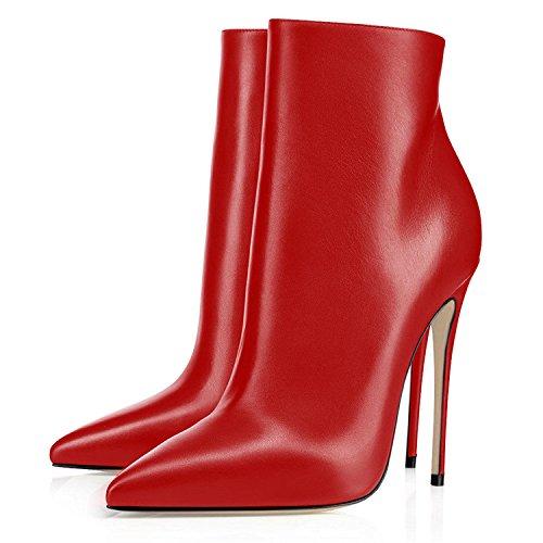 Inverno Stivaletti Tacco Rosso Elegante con Alto Tacco Stivaletti 120mm Stivaletti Donna elashe Donna Classiche Blocco tOdqCww