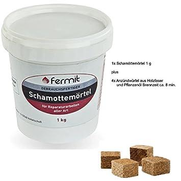 Schamottemörtel schamottmörtel Fermit 1 kgeimer