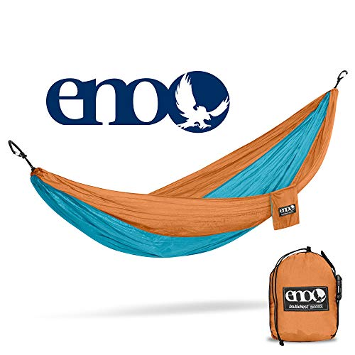 ENO – Eagles Nest Outfitters DoubleNest Hammock, Portable Hammock for Two, Copper Aqua