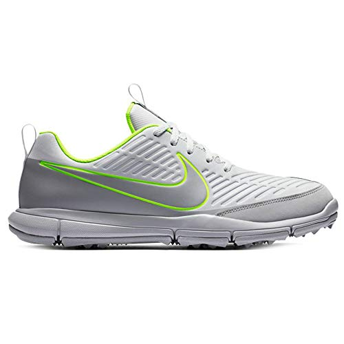 Nike Men's Explorer 2 Golf Shoes, Pure Platinum/Wolf Grey/Volt, 9 M US (Nike Vapor Fly Pro Irons For Sale)