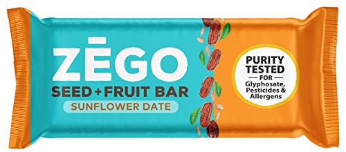 ZEGO Seed + Fruit Bars, Sunflower Date, Non GMO, Organic, Vegan, Gluten Free, 38g (Pack of 9) (Crunch Bars Sunbutter)