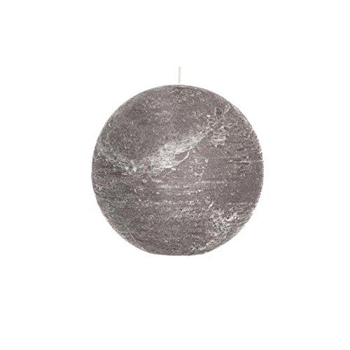 Paris Prix - Bougie Boule Rustic 15cm Gris