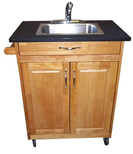 Single Deep Basin Self Contained Portable Sink Model PSW-009