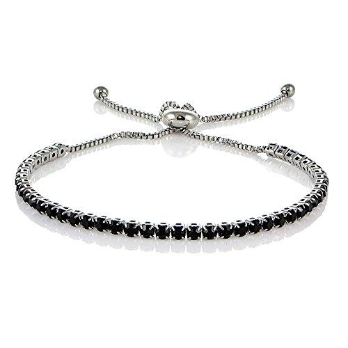 Stainless Steel Zirconia Adjustable Bracelet