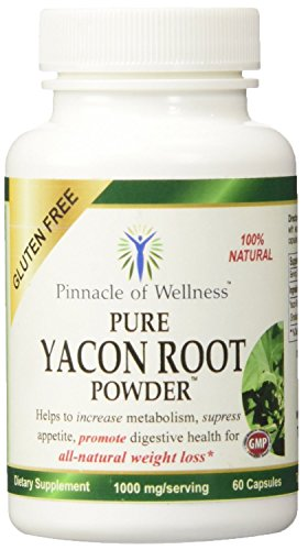 Pinnacle of Wellness Pure Yacon Root Powder Weight Loss Diet Pills, 60 Capsules