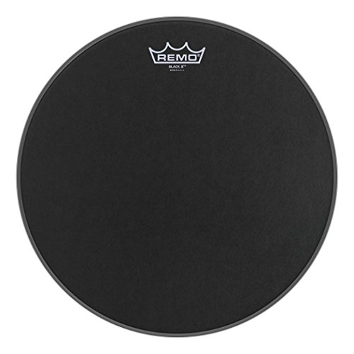 Remo Emperor X Black Suede Snare Drumhead - Bottom Black Dot, 14