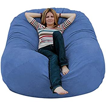 Amazon Com Lumaland Luxury 6 Foot Bean Bag Chair With