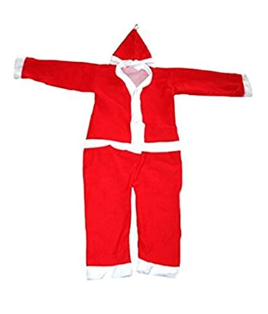 15401bac3ed1b Image Unavailable. Image not available for. Colour  Kids Fancy Dress  Christmas Party Wear Santa Claus Costume for Both Boys   Girls