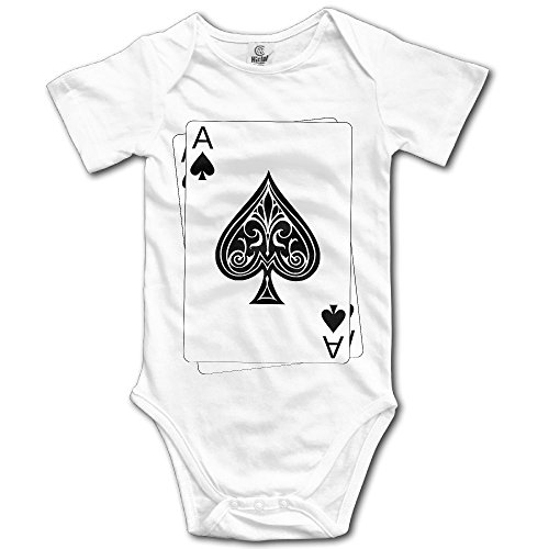 Price comparison product image Poker Ace of Spades Newborn Girl Boy Romper Jumpsuit Bodysuit Baby Outfits Infant Clothes