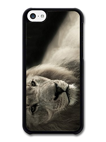 Cool Cute Lion Photography Wild Animal Nature in Black and White case for iPhone 5C