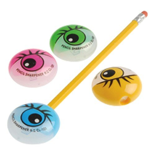 Eyeball Pencils - EYEBALL PENCIL SHARPENERS, SOLD BY 11 DOZENS