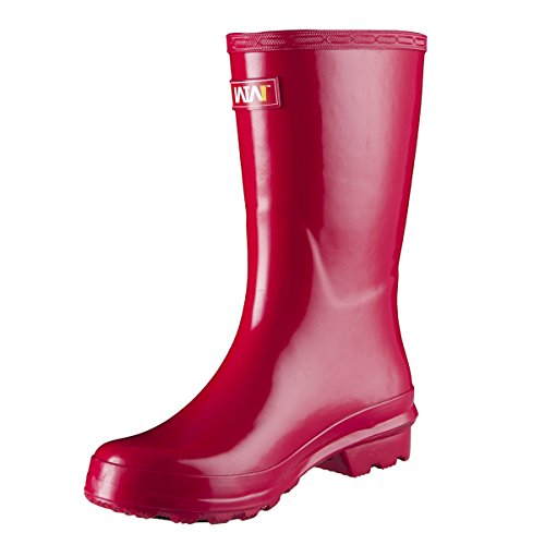 Short Boots Day Red Rainy Girls Rubber Women's Gloss for Original WTW Rain gqp1aEO
