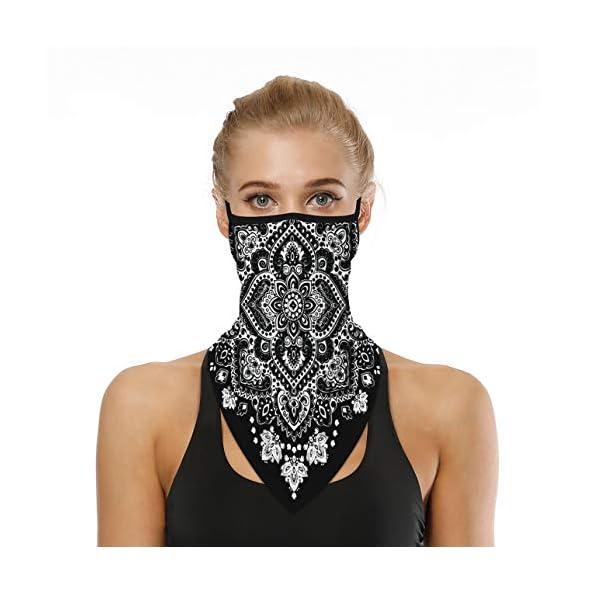 WOZNLOYE-Face-Shield-Multifunktionstuch-Motorrad-Mundschutz-Halstuch-Bandana-Schlauchschal-Unisex-Gesichtsschutz-Balaclava-Kopftuch-Outdoor-Sport-Face-Schal-Dreieckschal