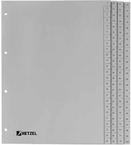 confezione da 1 12/fogli grigio fogli extra larghi A4 separatori numerati in polipropilene dimensioni 246/x 297/mm Rexel