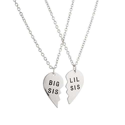 lux-accessories-big-sis-lil-sis-little-sister-bff-best-friends-forever-necklace-set-2-pc