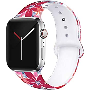 Amazon.com: OriBear Floral Band Compatible with Apple