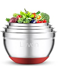 Luvan stainless steel mixing bowl (pack of 4,non-slip silicone bottom)