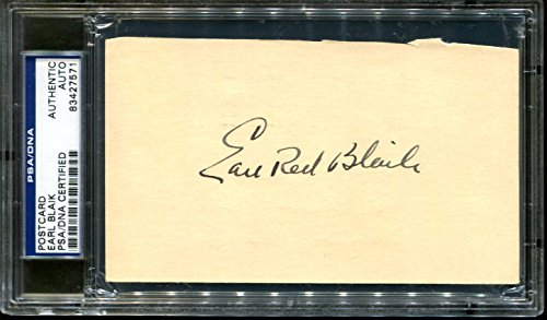 Earl Red Blaik Signed Postcard 1949 GPC Army Autographed PSA/DNA 83427571