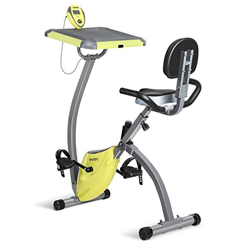 INTEY Exercise Bike For Home With Desktop Magnetic Resistance Fitness Machine Bike Trainer Home Gym Equipment